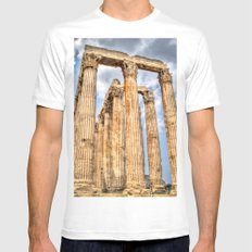 Temple of Zues Mens Fitted Tee SMALL White