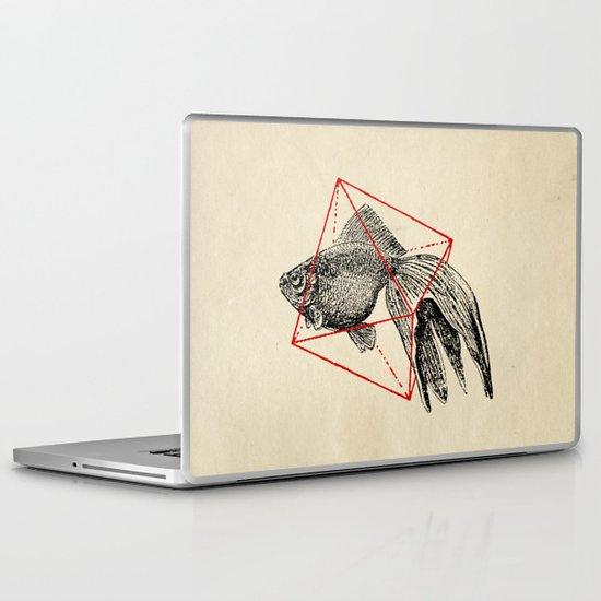 Fish In Geometrics III Laptop & iPad Skin