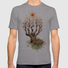 Octopus Tree Mens Fitted Tee Athletic Grey SMALL