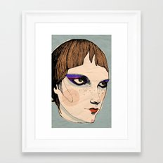 make up Framed Art Print