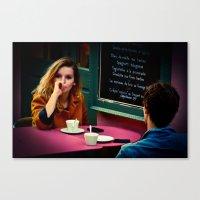 silent coffee Canvas Print