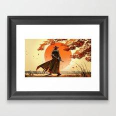 Cowboy With Ninja Sword Framed Art Print