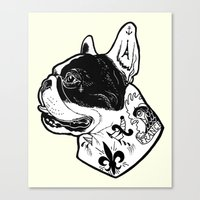 French Bulldog Tattooed … Canvas Print
