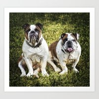 Fred and Ethel Art Print