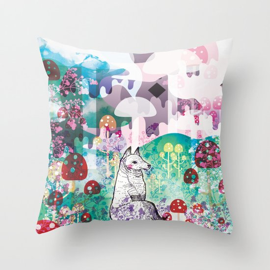 Wonder World Throw Pillow
