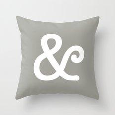 Ampersand Neutral Throw Pillow