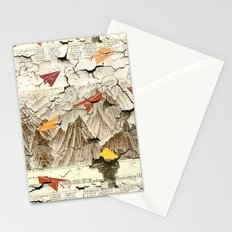 Peeling Pyrenees Paper Planes Stationery Cards