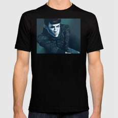 Spock Mens Fitted Tee Black SMALL