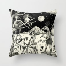 Welcomed Into the Fold By Other Strange Birds Throw Pillow