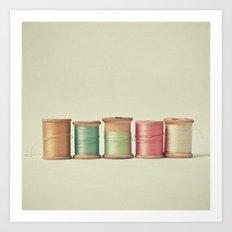 Five In A Row Art Print