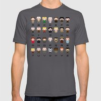 Game of Thro nes Alphabet Mens Fitted Tee Asphalt SMALL