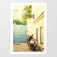 Montmartre Scooter Art Print