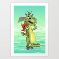 My Little Friend .. fantasy  Art Print