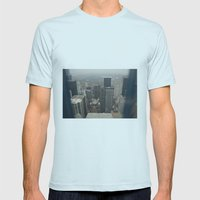 Skyline In Perspective Mens Fitted Tee Light Blue SMALL