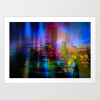 Behind the curtain 2 (Melbourne) Art Print