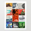 Station! Fantastic Cinematic - The Singles covers Art Print