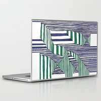 stripes Laptop & iPad Skins featuring Stripes by Take Five
