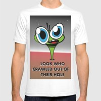 Look Who Crawled Out Of … Mens Fitted Tee White SMALL