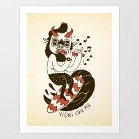 Vieni Con Me Art Print