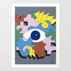 Patterned Eyes   The Right Eye 2/2 Art Print