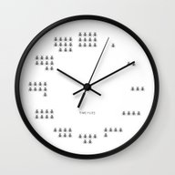 Wall Clock featuring Time Flies by Ilovedoodle