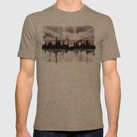 London Skyline 2 Tea Staines Mens Fitted Tee Tri-Coffee SMALL