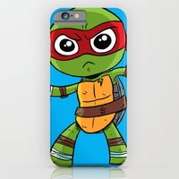 iPhone & iPod Case featuring TMNT Raphael by thechrishaley