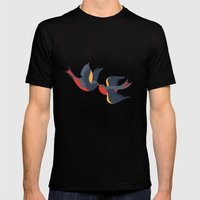 Sparrow songs Mens Fitted Tee Black SMALL