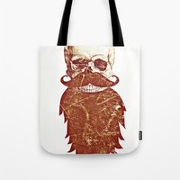Beard Skull 2 Tote Bag