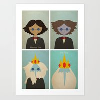 Minimalist Adventure Time Simon Petrikov/Ice King Art Print