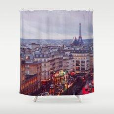 Rainy Paris. Shower Curtain
