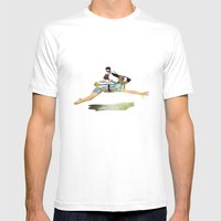 Riding The Rabbit Mens Fitted Tee White SMALL