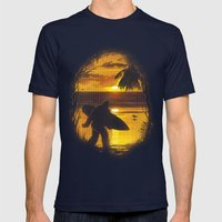 Secret Spot Mens Fitted Tee Navy SMALL