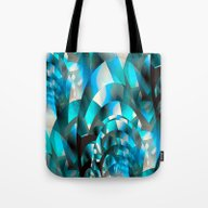 Fractal Waves (turquoise… Tote Bag
