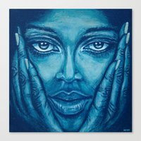 look at me-blue Canvas Print