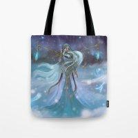 Lady Winter Tote Bag