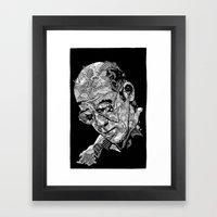Hunter S Thompson Framed Art Print