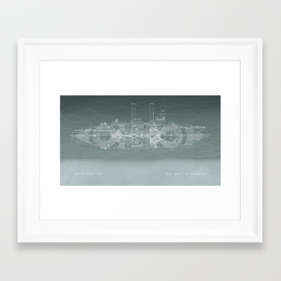 Run a Tight Ship Framed Art Print