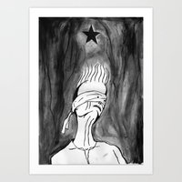 Lazarus 2 - Bowie Blackstar tribute, version Art Print