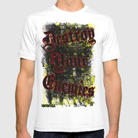 Destroy Your Enemies Mens Fitted Tee White SMALL
