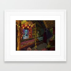 night bazaar Framed Art Print