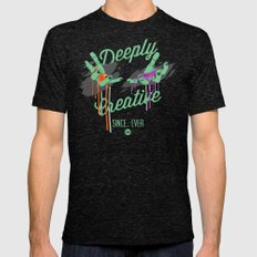 Deeply Creative Mens Fitted Tee Tri-Black SMALL