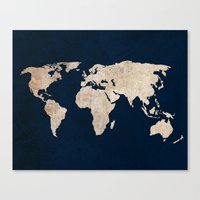 Inverted Rustic World Ma… Canvas Print