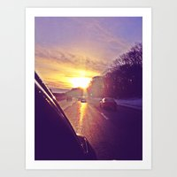 Sunset Blv. Art Print