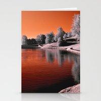 Infrared Sunrise Stationery Cards