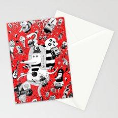 rot zeichentusche  Stationery Cards