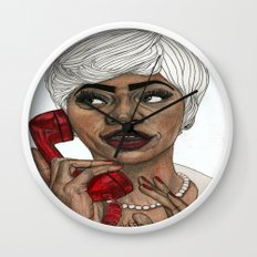 Girl with the Red Telephone Wall Clock