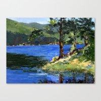 Sun Rays Through the Trees Canvas Print
