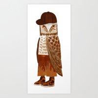Hip Hop Owl Art Print