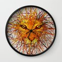 Lion Drip Wall Clock